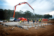 Pouring of the First Slab at Harrington Grove