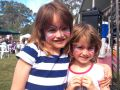 Spring Fair girls with painted faces